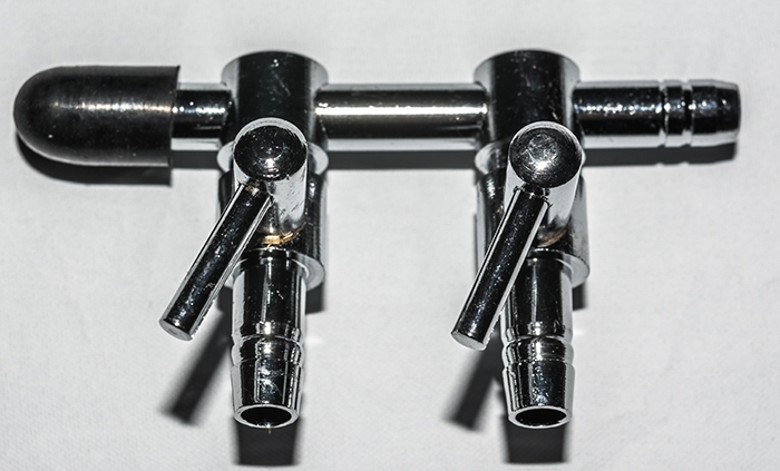 20 Stueck 2 - Weg Luftventil Metall 4 / 6 mm Luftschlauch