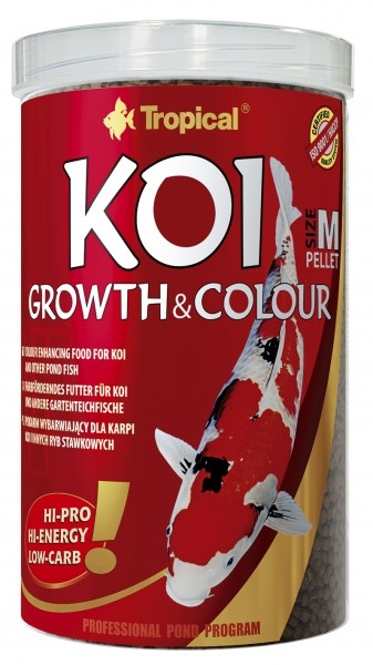 Tropical Koi Growth&Colour Pellet m (medium) 10 L