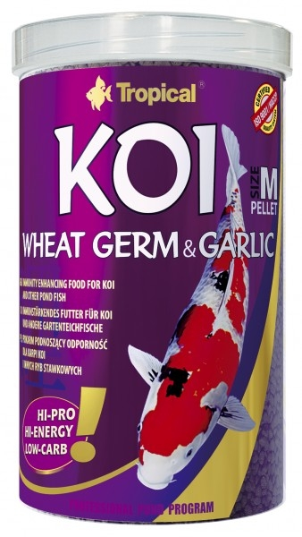 Tropical Koi Wheat Germ & Garlic Pellet m (medium) 10 L