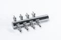 10 Stueck 8 fach Luftverteiler Metall 4 / 6 mm Luftschlauch