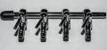 2 Stueck Mehrfach Luftverteiler Metall 4 / 6 mm Luftschlauch