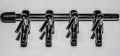 4 Stueck Mehrfach Luftverteiler Metall 4 / 6 mm Luftschlauch